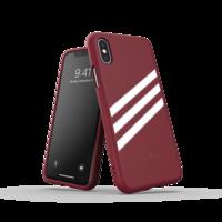 adidas Molded Case Streifen Wildleder Schutzhülle iPhone X XS - Burgund Weiß
