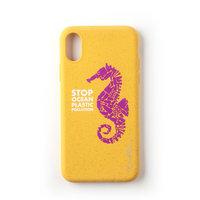 Wilma Stop Plastikhülle Biologisch abbaubare Schutzhülle Seahorse iPhone XR - Gelb