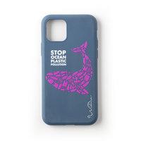 Wilma Stop Plastikhülle Biologisch abbaubare Schutzhülle Wal iPhone 11 - Dunkelblau