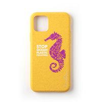Wilma Stop Plastikhülle Biologisch abbaubare Schutzhülle Seahorse iPhone 11 Pro - Gelb
