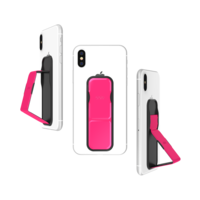CLCKR Universal Fingergriff Neonriemen Smartphone - Pink