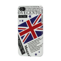 iPhone 4 / 4s Britisch Englisch Flagge Flagge Zeitungsmagazin Cover Fall Ovecento