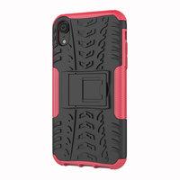 Reifenprofilhülle TPU Polycarbonat iPhone XR Hülle - Black Pink Protection