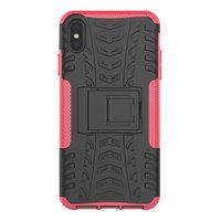 Reifenprofilhülle TPU Polycarbonat iPhone XS Max Hülle - Black Pink Protection