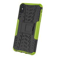 Reifenprofilhülle TPU Polycarbonat iPhone XS Max Hülle - Schwarz Grün Schutz