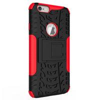 Stoßfeste Schutzhülle iPhone 6 6s Hülle - Rot