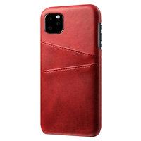 Leder Geldbörse Geldbörse iPhone 11 Pro Max Hülle - Roter Schutz