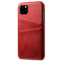 Leder Brieftasche Brieftasche iPhone 11 Hülle - Roter Schutz