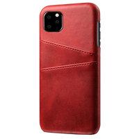 Leder Brieftasche Brieftasche iPhone 11 Pro Hülle - Roter Schutz