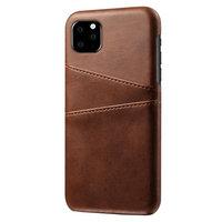 Leder Brieftasche Brieftasche iPhone 11 Pro Hülle - Brauner Schutz