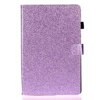 Shiny Flash Glitter Case Cover aus PU-Leder für iPad 10,2 Zoll - Lila
