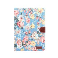 Brieftasche Brieftasche Cover Flowerprint Blumenmuster Muster Kunstleder für iPad 10,2 Zoll - Blau