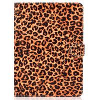 Case Wallet Leopardenmuster für iPad 10,2, iPad Pro 10.5 und iPad Air 3 10,5 Zoll - Orange Schwarz