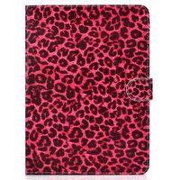 Case Brieftasche Red Leopard Print für iPad 10,2, iPad Pro 10.5 und iPad Air 3 10,5 Zoll - Rot Pink