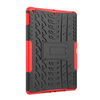 Band Profil Abdeckung Griff Ständer TPU Kunststoff iPad 10,2 Zoll - Rot