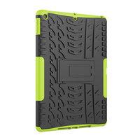 Reifenprofil iPad 10,2 Zoll TPU Polycarbonat Abdeckung mit Ständer - Grün Schwarz