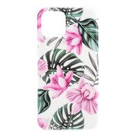 Fall Fall Blumen Blätter Blumen Natur TPU Flexible Stoßdämpfung für iPhone 11 - Pink