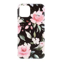 Fall Fall Blumen Blätter Blumen Natur TPU Flexible Stoßdämpfung für iPhone 11 - Schwarz