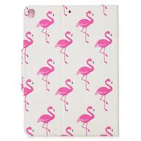 Brieftasche Brieftasche Hülle Fall Kunstleder Natur Vogel Flamingo für iPad 10.2 - Pink