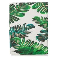 Brieftasche Brieftasche Hülle Fall Kunstleder Natur Blätter Dschungel für iPad 10.2 - Grün