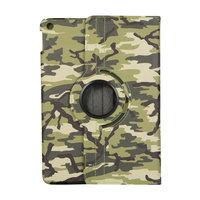 Camouflage Design 360-Grad-Drehung Standard-Hüllenetui Kunstleder für iPad 10,2 Zoll - Hellgrün