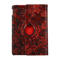 Trauben Design 360 Grad Drehung Standardhülle Hülle Kunstleder für iPad 10,2 Zoll - Rot