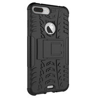 Stoßfeste Schutzhülle iPhone 7 Plus 8 Plus Hülle - Schwarz