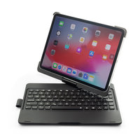 F360B 360 Grad schwenkbar drehbar ABS Bluetooth Tastatur Hülle für iPad Pro 11 Zoll - Schwarz