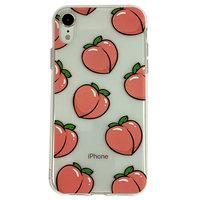 Peaches iPhone XR TPU Hülle - Transparent Pink Flexibel
