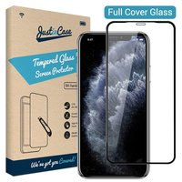 Just in Case gehärteter Glasschutz iPhone 11 Pro Max - Schwarze Kanten gebogen
