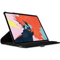 Just in Case Leder 360 Grad drehbare Abdeckung iPad Pro 12,9 Zoll 2018 Hoes Case - Schwarzer Schutz