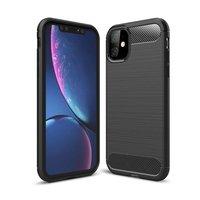 Nur in Hülle Schutz Carbon TPU iPhone 11 Hülle - Schwarz