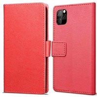 Just in Case Leder Brieftasche Brieftasche iPhone 11 Pro Cover - Rote Karten Rechnungen