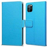 Just in Case Leder Brieftasche Brieftasche iPhone 11 Pro Cover - Blue Cards Bills