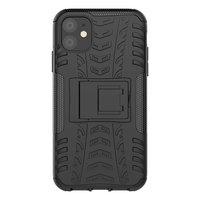 Just in Case Robustes Hybrid TPU Polycarbonat Reifenprofil iPhone 11 Case Case - Schwarzer Standard
