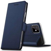 Just in Case Leder Brieftasche Brieftasche iPhone 11 Pro Max Bücherregal Hülle - Blau
