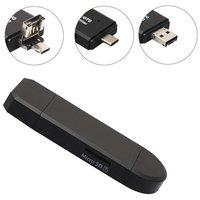 USB-C USB Micro USB Kartenleser MicroSD - Schwarz