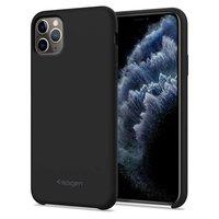 Spigen Silikon Fit iPhone 11 Pro Max Hülle - Schwarz Stoßdämpfend
