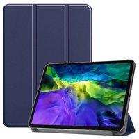 Nur in Fall Leder Smart dreifach gefaltete Abdeckung mit Fall iPad Pro 11 Zoll 2018 - Blau