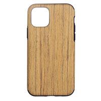 Holz Textur Plastikhülle für iPhone 12 mini - braun