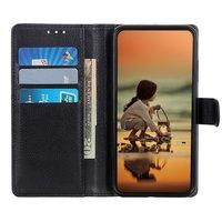 Brieftasche Kunstledertasche für iPhone 12 Pro Max - schwarz