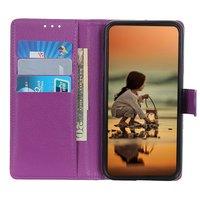 Brieftasche Kunstledertasche für iPhone 12 und iPhone 12 Pro - lila