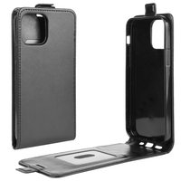 Flip Case Kunstlederhülle für iPhone 12 und iPhone 12 Pro - schwarz