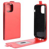 Flip Case Kunstlederhülle für iPhone 12 und iPhone 12 Pro - rot