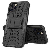 Stoßfeste Kunststoff- und stoßdämpfende TPU-Hülle für iPhone 12 und iPhone 12 Pro - schwarz