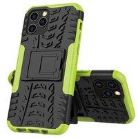 Stoßfeste stoßdämpfende TPU-Hülle für iPhone 12 und iPhone 12 Pro - schwarz mit grün