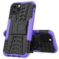 Stoßfeste stoßdämpfende TPU-Hülle für iPhone 12 und iPhone 12 Pro - schwarz mit lila