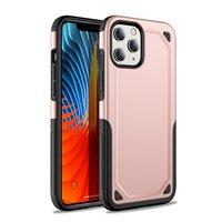 Pro Armor Kunststoff und stoßdämpfende TPU-Hülle für iPhone 12 und iPhone 12 Pro - pink