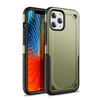 Pro Armor Kunststoff und stoßdämpfende TPU-Hülle für iPhone 12 und iPhone 12 Pro - grün