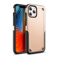 Pro Armor Kunststoff und stoßdämpfende TPU-Hülle für iPhone 12 Pro Max - Gold